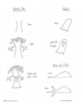 how to draw halloween pictures step by step